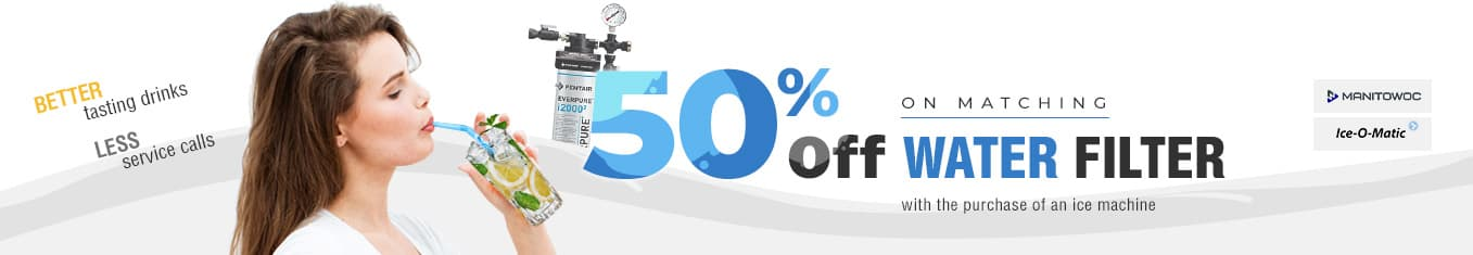 50% off on matching water filters