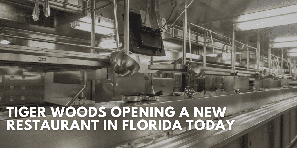 Tiger Woods Opening a New Restaurant In Florida Today