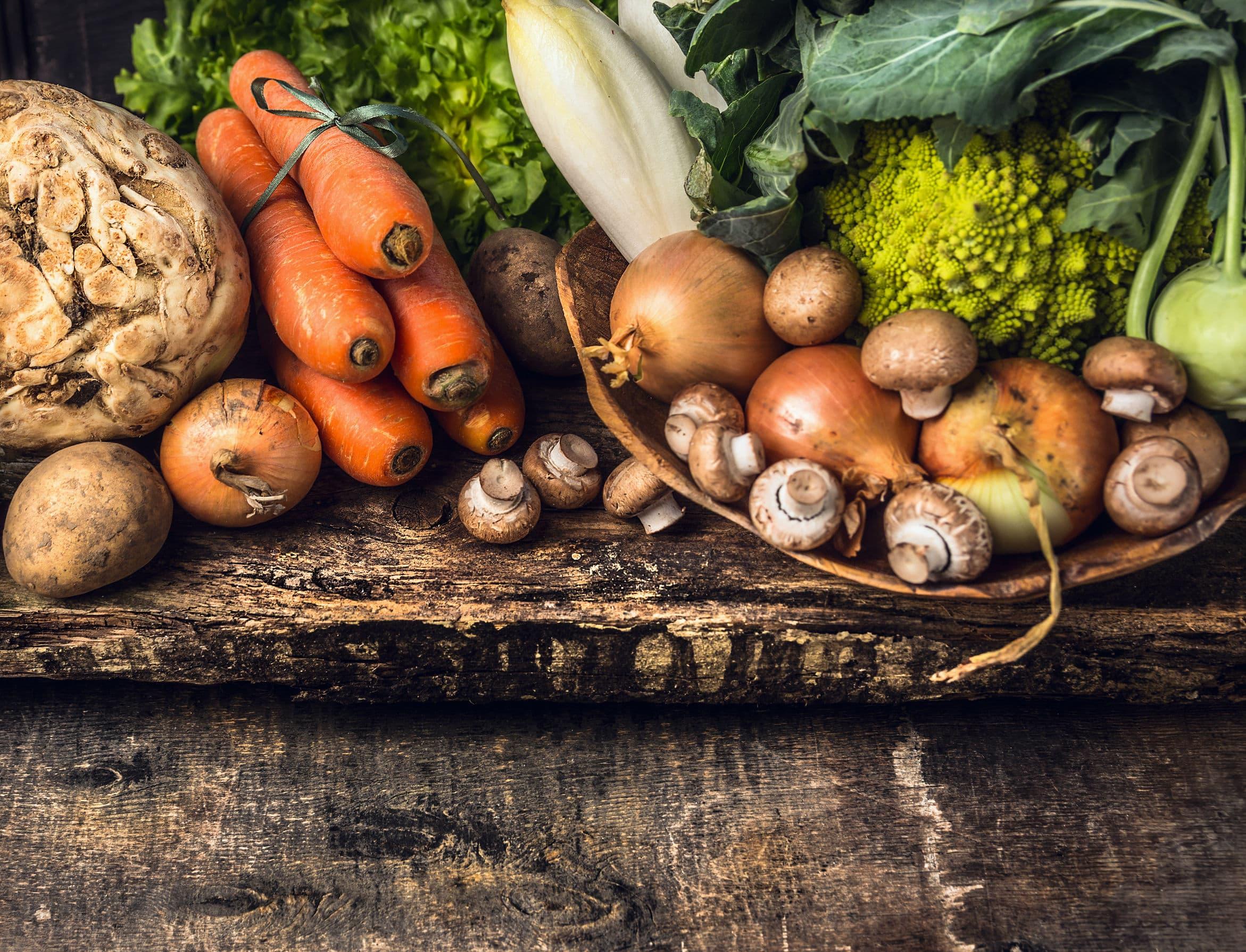 Root Vegetables and Peelers