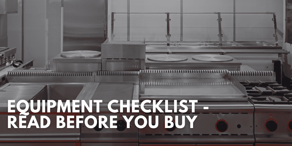 Equipment Checklist - Read Before You Buy