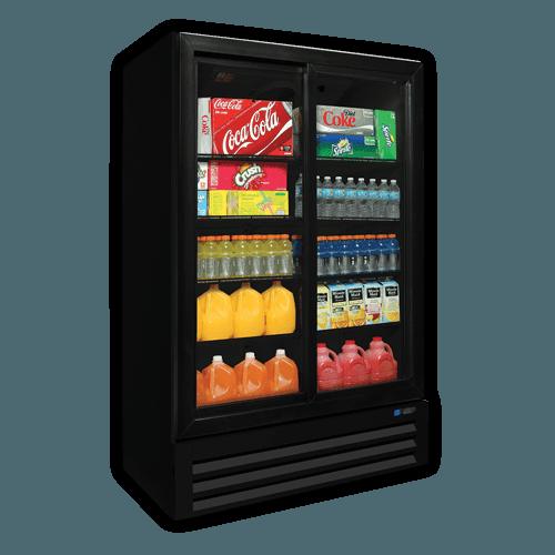 Glass door reach-in refrigerators