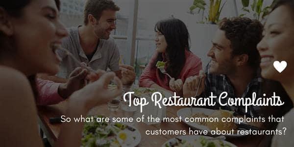 Top Restaurant Complaints