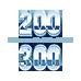 200-300 lbs