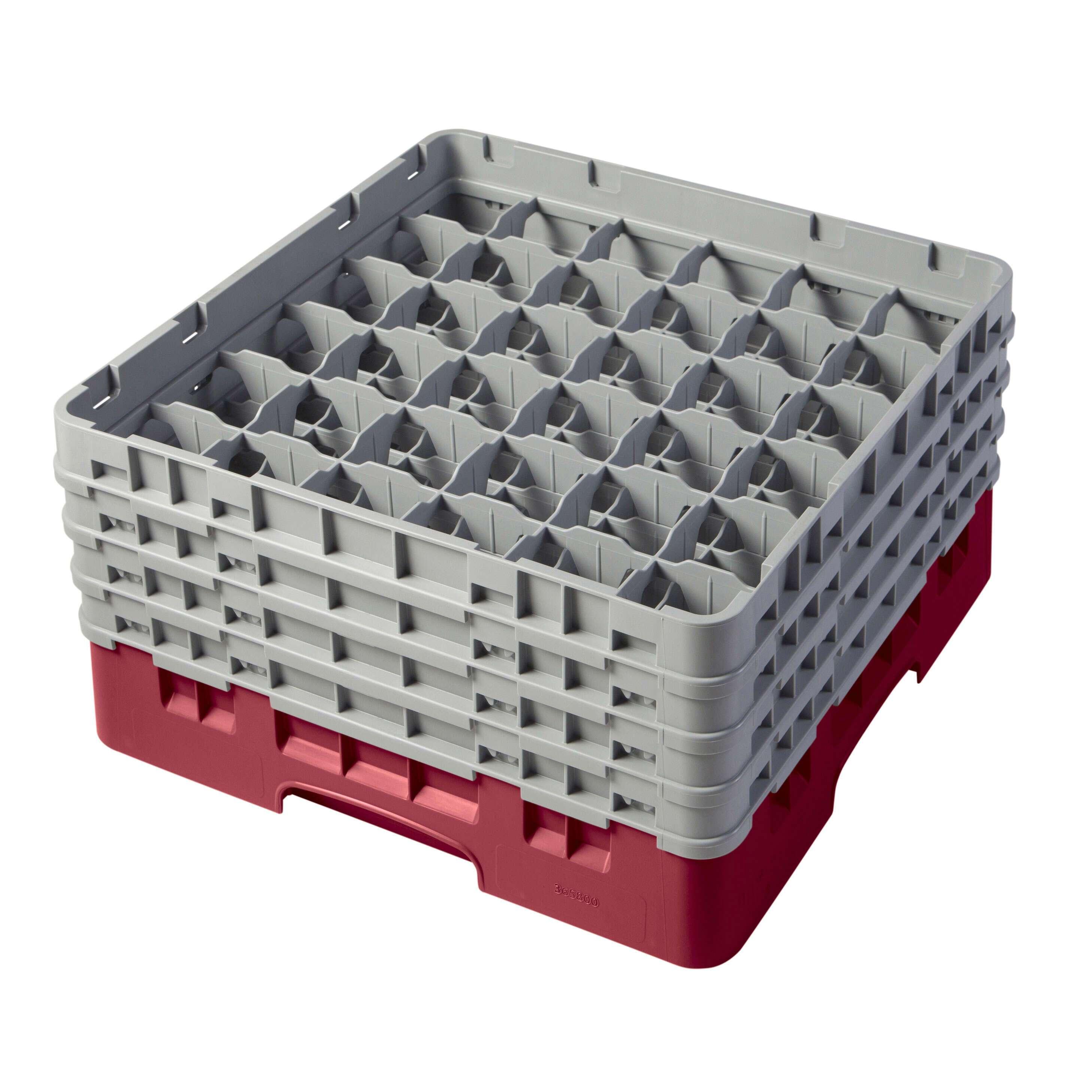 Vollrath Traex Black Plastic 49 Compartment Dishwashing Base Rack 19 3//4L x 19 3//4W x 4H