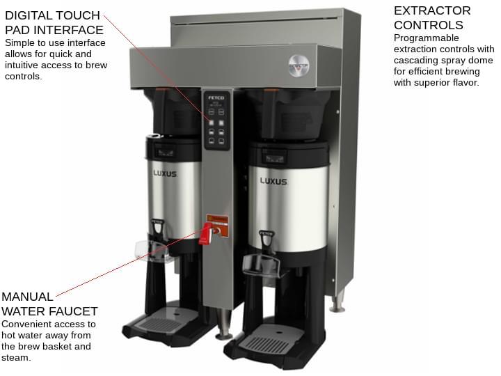 FETCO CBS-1152-V+ (E115251) Extractor® V+™ Series Coffee Brewer