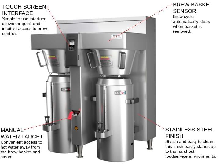 FETCO CBS-2162XTS (E216253) XTS™ Series Coffee Brewer