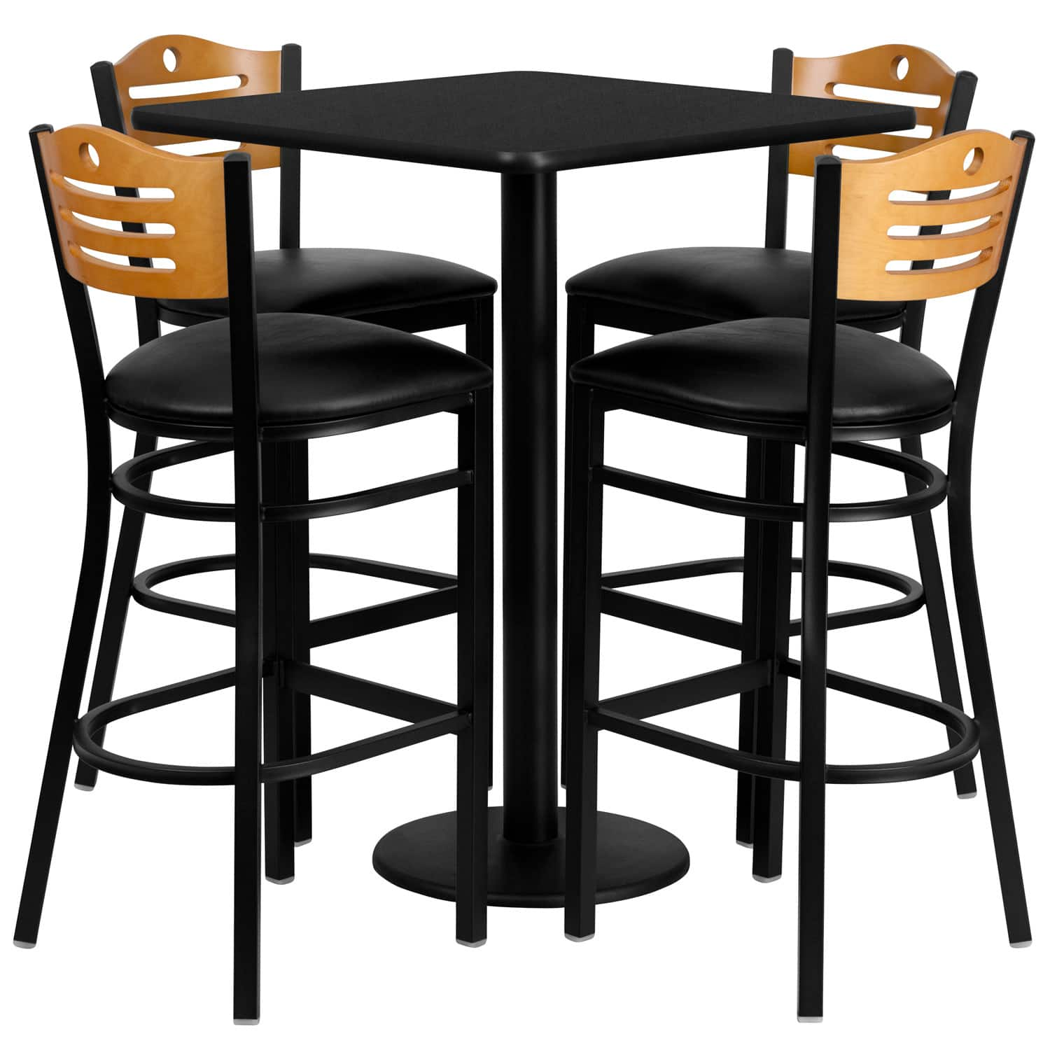 Flash Furniture MD-0019-GG Table And Bar Stool Set