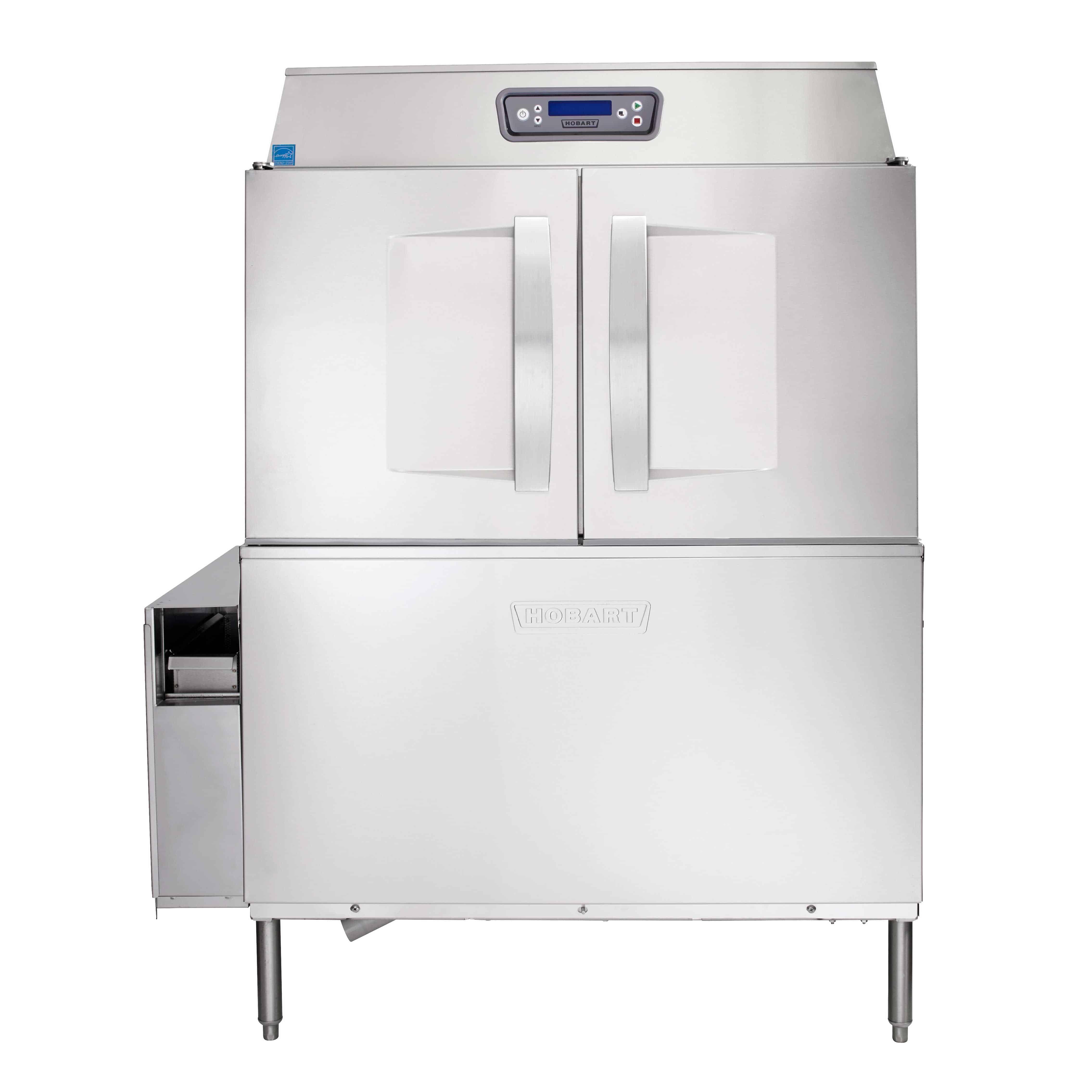Industrial Kitchen Dishwasher: Hobart CL44EN-ADV+BUILDUP Conveyor Dishwasher