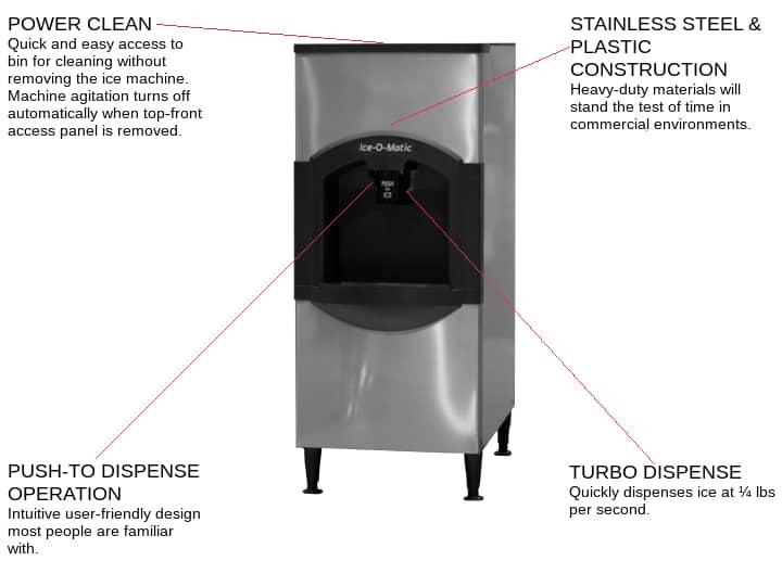 Ice-O-Matic CD40130 Cube Ice Dispenser