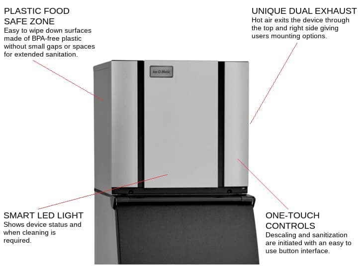 ICE-O-Matic CIM0320HA 22.25 Half-Dice Ice Maker, Cube-Style - 300-400 lb/24 Hr Ice Production, Air-Cooled, 115 Volts