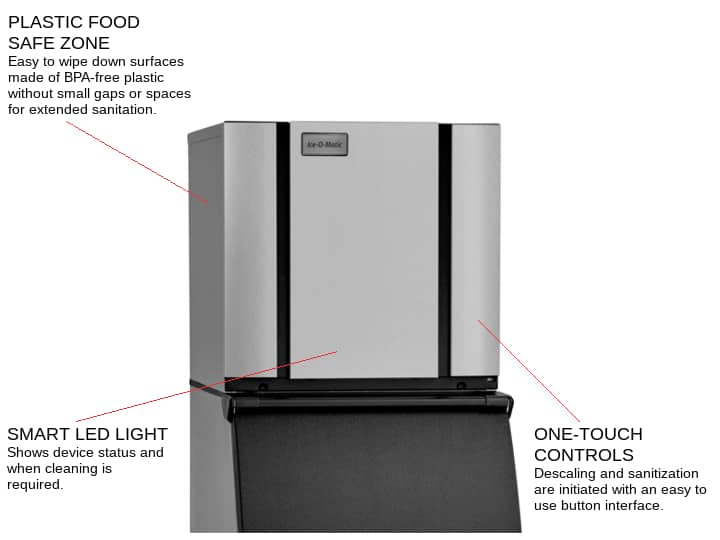 ICE-O-Matic CIM0320HW 22.25 Half-Dice Ice Maker, Cube-Style - 300-400 lb/24 Hr Ice Production, Water-Cooled, 115 Volts