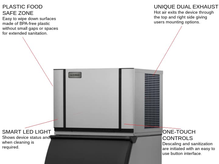 ICE-O-Matic CIM0330HA 30.25 Half-Dice Ice Maker, Cube-Style - 300-400 lb/24 Hr Ice Production, Air-Cooled, 115 Volts