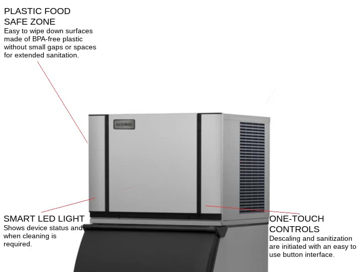 ICE-O-Matic CIM0330HW 30.25 Half-Dice Ice Maker, Cube-Style - 300-400 lb/24 Hr Ice Production, Water-Cooled, 115 Volts