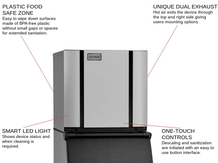 ICE-O-Matic CIM0520HA 22.25 Half-Dice Ice Maker, Cube-Style - 500-600 lb/24 Hr Ice Production, Air-Cooled, 115 Volts