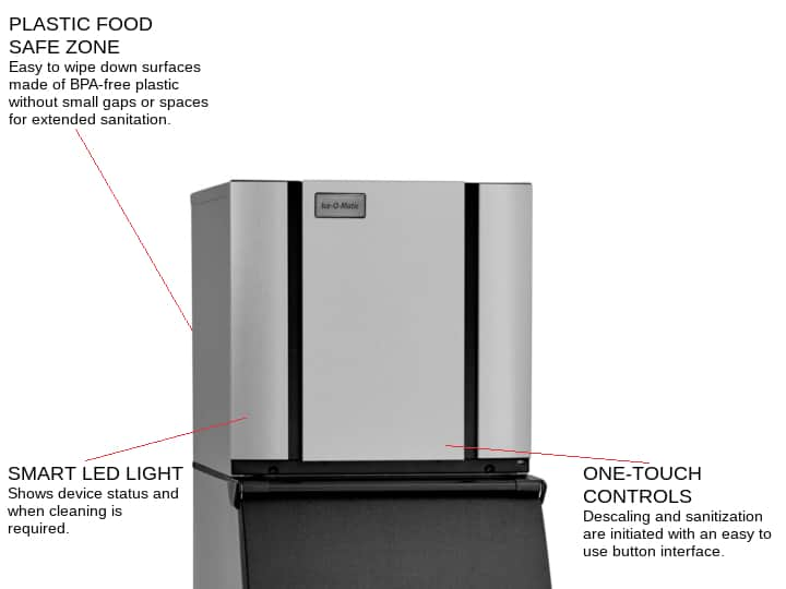 ICE-O-Matic CIM0520HW 22.25 Half-Dice Ice Maker, Cube-Style - 500-600 lb/24 Hr Ice Production, Water-Cooled, 115 Volts