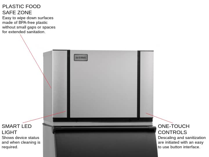 ICE-O-Matic CIM0530HW 30.25 Half-Dice Ice Maker, Cube-Style - 500-600 lb/24 Hr Ice Production, Water-Cooled, 115 Volts