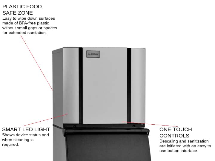 ICE-O-Matic CIM0836HW 30.25 Half-Dice Ice Maker, Cube-Style - 700-900 lb/24 Hr Ice Production, Water-Cooled, 208-230 Volts