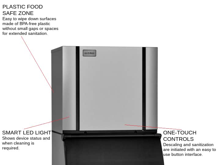 ICE-O-Matic CIM1136HA 30.25 Half-Dice Ice Maker, Cube-Style - 900-1000 lbs/24 Hr Ice Production, Air-Cooled, 208-230 Volts
