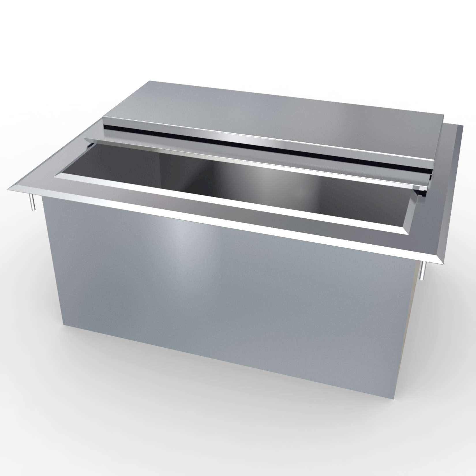 Lacrosse cooler di24ic drop in ice bin unit for Drop in cooler for outdoor kitchen