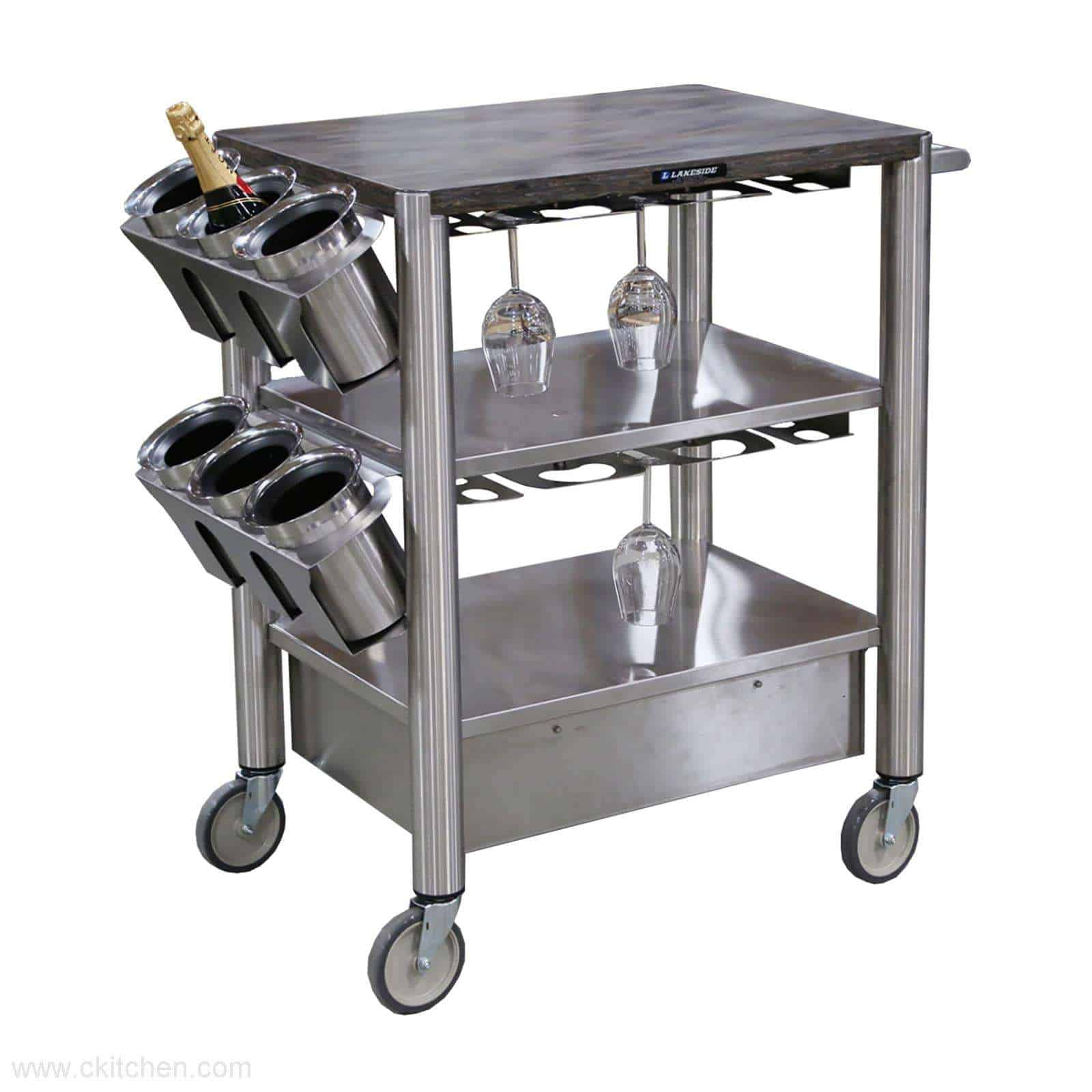 Lakeside Manufacturing 509 Wine Cart Ckitchen Com