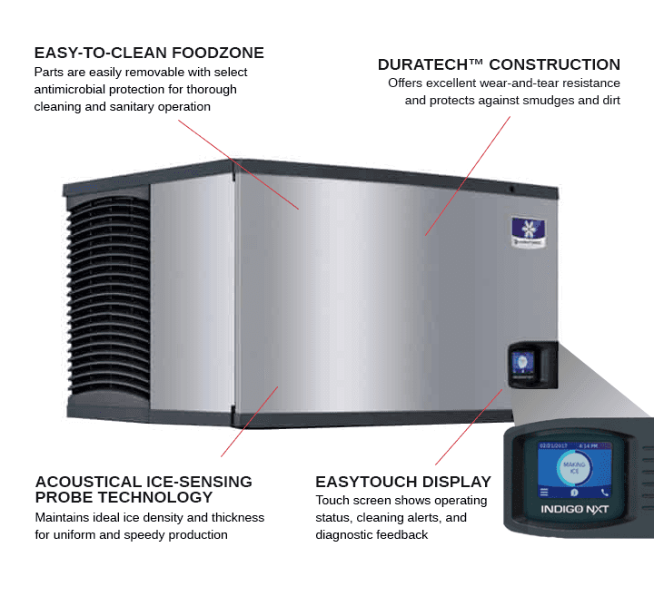 Manitowoc IYT1500W    48  Half-Dice Ice Maker, Cube-Style - 1500-2000 lbs/24 Hr Ice Production,  Water-Cooled, 115 Volts