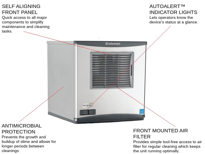 Scotsman C0322MA-6 22 Full-Dice Ice Maker, Cube-Style - 300-400 lb/24 Hr Ice Production, Air-Cooled, 230 Volts