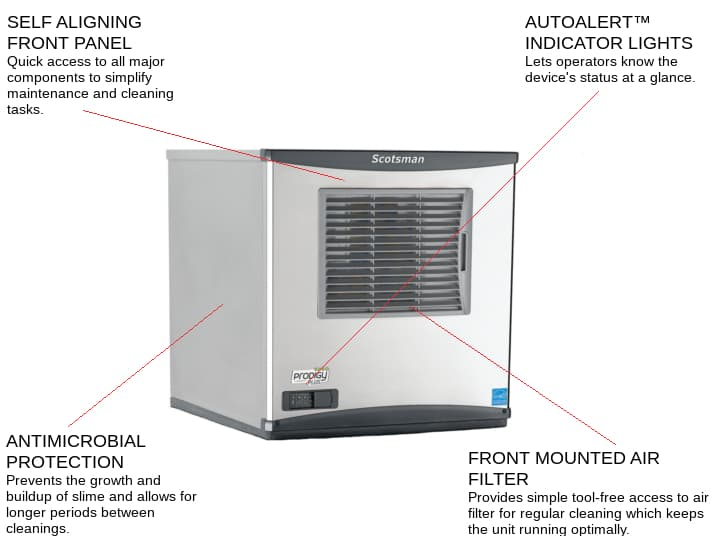 Scotsman C0522SA-6 22 Half-Dice Ice Maker, Cube-Style - 400-500 lbs/24 Hr Ice Production, Air-Cooled, 230 Volts