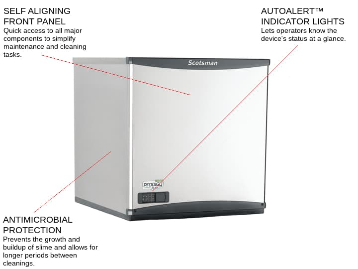 Scotsman C0522SW-1 22 Half-Dice Ice Maker, Cube-Style - 400-500 lbs/24 Hr Ice Production, Water-Cooled, 115 Volts