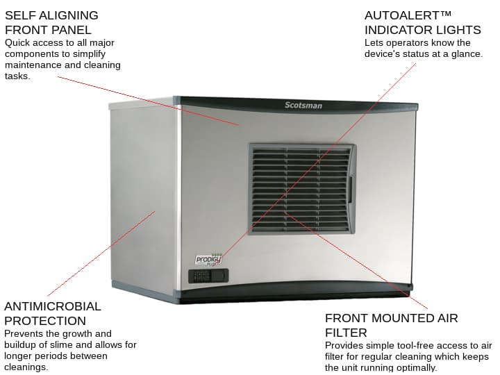 Scotsman C0630SA-6 30 Half-Dice Ice Maker, Cube-Style - 600-700 lbs/24 Hr Ice Production, Air-Cooled, 230 Volts