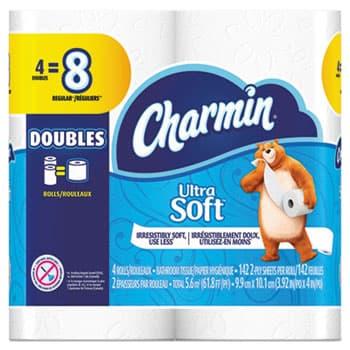 RJ Schinner 13258 P&G Charmin Ultra Soft Bath Tissue 4 Roll Pack