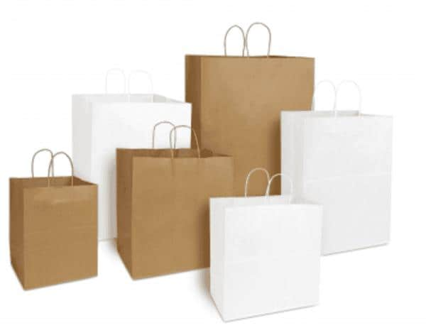 RJ Schinner 18408 Duro 8# Grocery Bag Tiger Kraft