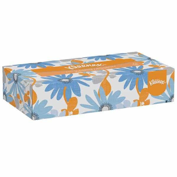 "RJ Schinner 21606 Kimberly Clark Kleenex Facial Tissue White 8.4"" x 8.0"" Flat Box 48"