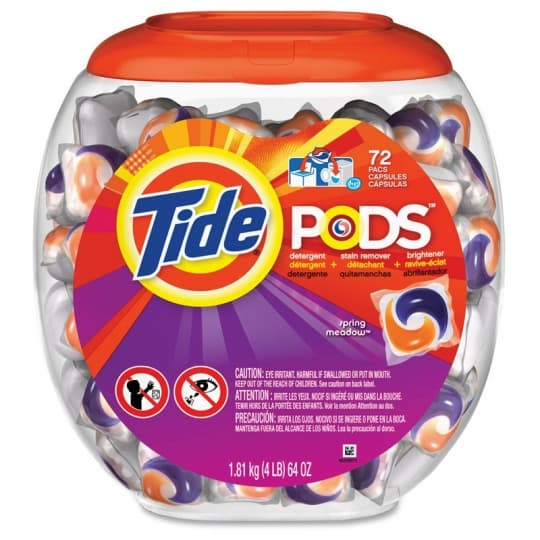 RJ Schinner 50978 P&G Tide HE Laundry Detergent Pods 72 Spring Meadow