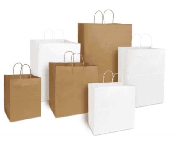 RJ Schinner 80076 Duro 1/6 57# Grocery Sack Paper Bag Kraft