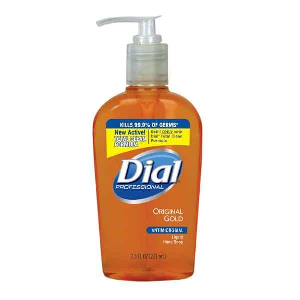 RJ Schinner 84014 Dial Liquid Gold Soap Decor Pump Bottle 7.5 oz