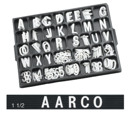 Aarco Products HF1.5 Letter Set