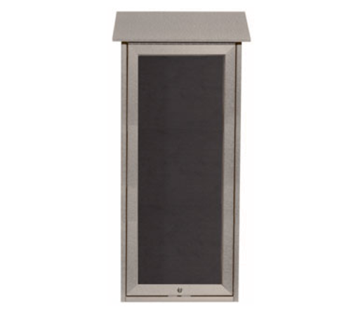 Aarco Products OPLD3416L-2 Slimline Message Center