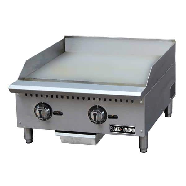 Admiral Craft Admiral Craft BDCTG-24T Black Diamond Thermostatic Gas Griddle