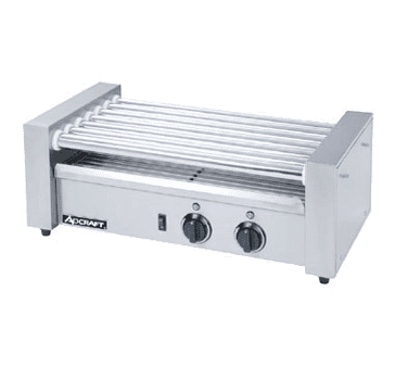 Admiral Craft RG-07 22.5'' Countertop Hot Dog Roller Grill with Electronic Controls, 120 Volts
