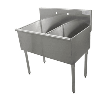Advance Tabco 4-2-36 Square Corner Kitchen Sink