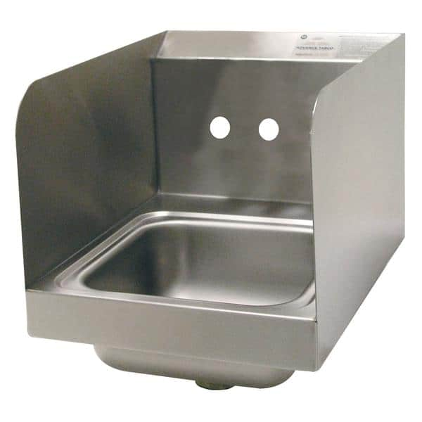 """Advance Tabco 7-PS-23-ECSPNF-1X Special Value Hand Sink with 7-3/4"""" side splashes"""