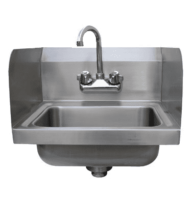 """Advance Tabco 7-PS-EC-SP-2X Special Value Hand Sink with 7-3/4"""" side splashes"""