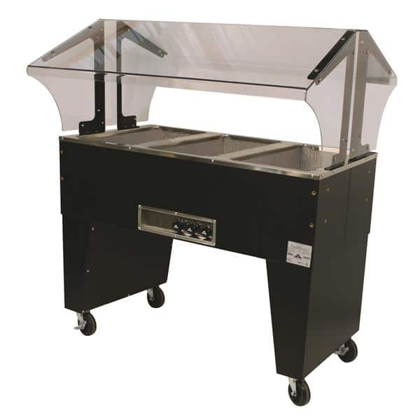 "Advance Tabco B3-120-B-X Electric Hot Food Steam Table with (3) 12"" x 20"" Hot Food Wells and Infinite Controls, 120 Volts"