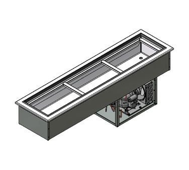 """Advance Tabco DISLRCP-3 Drop-In """"Slim Series"""" Refrigerated Cold Pan"""