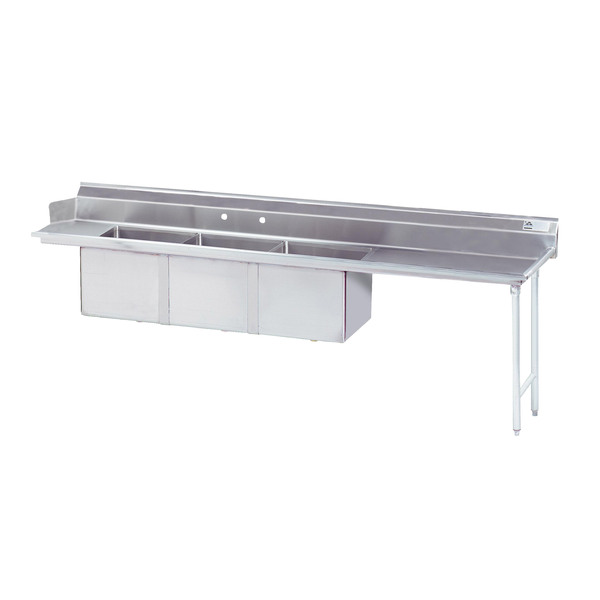 Advance Tabco DTC-3-1620-96R Dishtable with 3-compartment
