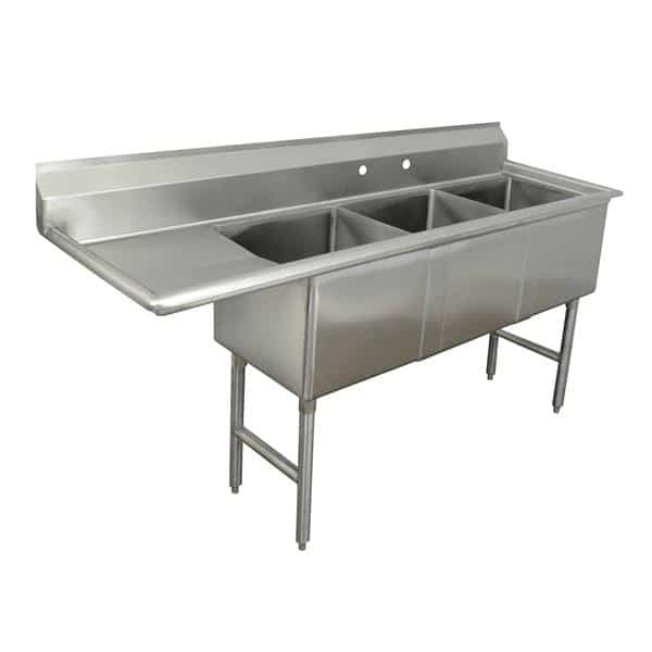 Advance Tabco FC-3-3024-36L Fabricated Sink