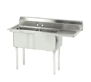 "Advance Tabco FE-2-1620-18R-X Lite"" Series Fabricated NSF Sink"
