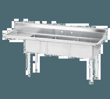 "Advance Tabco FE-3-1515-15L-X Lite"" Series Fabricated NSF Sink"