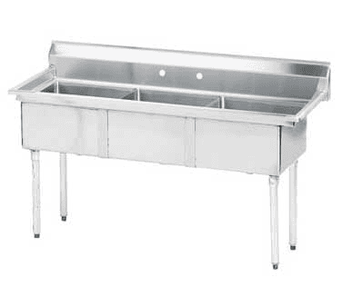 "Advance Tabco FE-3-1014-X Lite"" Series Fabricated NSF Sink"