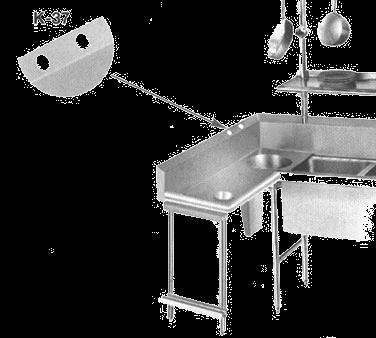 Advance Tabco K-37 Anti-Siphon vacuum breaker holes